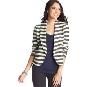 NWT LOFT Striped Terry Blazer